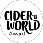 2018 CiderWorld Award Honor